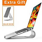 Acko Aluminum Laptop Stand Holder for Apple MacBook Air, MacBook Pro, All Notebooks with Cellphone Tablet Stand for Free