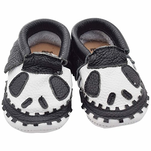 Unique Baby Limited Edition Genuine Leather Halloween Moccasins Jack Frost 6-12 (Dude Date Halloween)