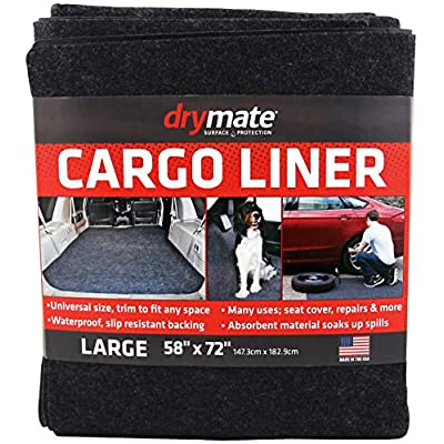 "Drymate Cargo Liner Mat (58"" x 72""), Seat Cover/Trunk Liner - Absorbent/Waterproof/Machine Washable - Protects Vehicle Interior, for SUVs, Trucks, Vans, Cars, and Dogs (Made in The USA): Automotive"