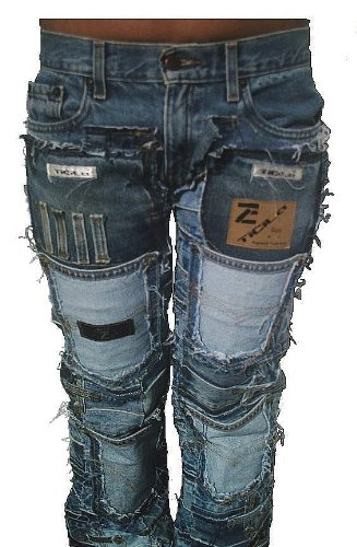 Denim Miss Designer Mujer Azul Ticila Rock Jeans Star Patchwork Seven zwqEn4gA