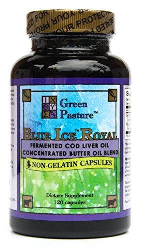 Green Pasture Blue Ice Royal Butter Oil / Fermented Cod Liver Oil Blend - 120 Capsules