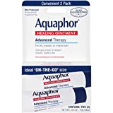 Eucerin Aquaphor Healing Ointment for Dry Cracked Chapped Skin and Lips for Unisex, 2 X 0.35 Ounce