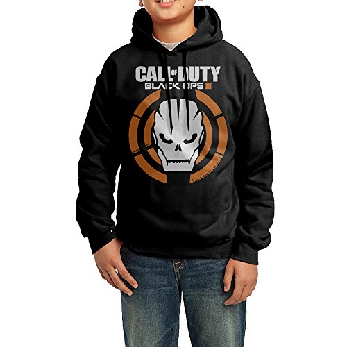 YHTY Youth Boys/Girls Hoodies Call Of Duty Black Ops III Black Size XL
