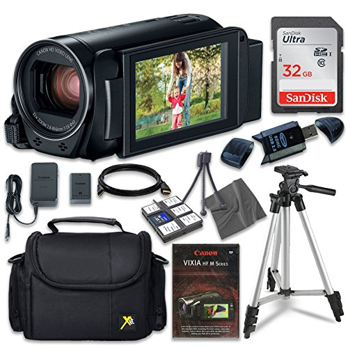 Canon VIXIA HF R82 Camcorder with Sandisk 32 GB SD Memory Card + Extra Accessory Bundle by Canon