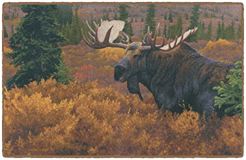 Brumlow Mills EW10276-30x46 Denali - Autumn Wildlife Moose Rug 2
