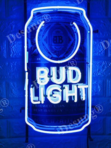 "Desung 20""x12"" Bud-Light Beer Can Neon Sign Light Lamp (VariousSizes) HD Vivid Printing Technology Handmade Bar Pub Man Cave HD41"