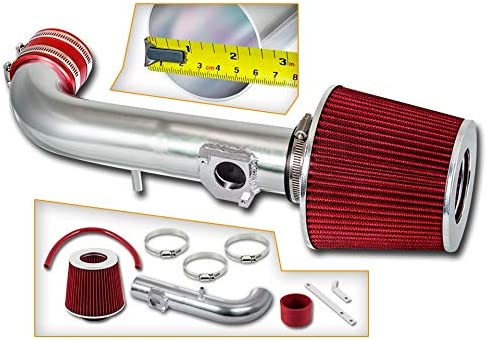 Rtunes Racing Short Ram Air Intake Kit Filter Combo RED For 98-02 Toyota Corolla with Filter