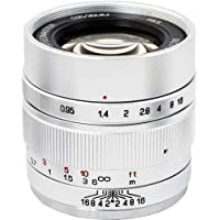 Mitakon Zhongyi Speedmaster 35mm f/0.95 Mark II Lens for Canon EOS-M Mirrorless Cameras - Silver