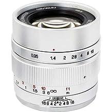 Mitakon Zhongyi Speedmaster 35mm f/0.95 Mark II Lens for Canon EOS-M Mirrorless Cameras - Silver
