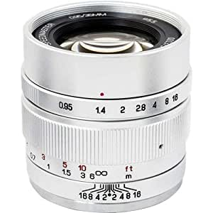 Mitakon Speedmaster 35mm f/0.95 Mark II Lens for Canon EOS-M Mirrorless Cameras - Silver
