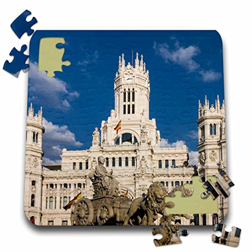 3dRose Cities of The World - Cybele Palace in Madrid, Spain - 10x10 Inch Puzzle (pzl_268658_2)