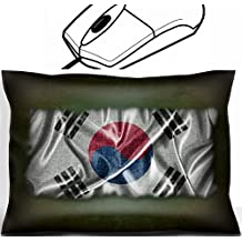MSD Mouse Wrist Rest Office Decor Wrist Supporter Pillow design 19790733 Illustration with a vintage South Korea flag on green background
