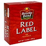 Brooke Bond Red Label Tea Bags, 100-Count Boxes (Pack of 6)