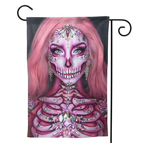 Label Love Zombie Halloween Teeth Makeup Big Iarge Jumbo for Party Themed Welcome Outdoor Outside Decorations Ornament Picks Garden Yard Decor Double Sided 28 X 40 Flag ()