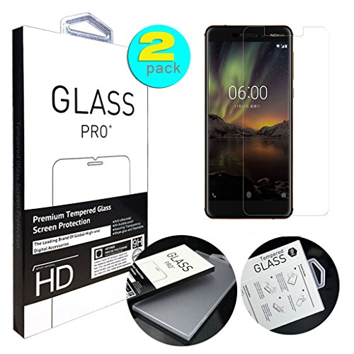 For Nokia 6 (2018) Screen Protector, ANGELLA-M HD...