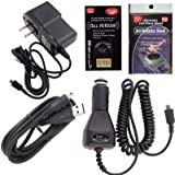 Plantronics BackBeat 116, 216, 903, 906, M100 Charging Kit: Car Charger, House Charger and USB Charger with Free Antenna Booster and Anti Radiation Shield.