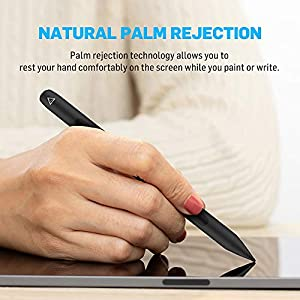 Adonit Note - M with Mouse Sensor, Left Right Click Buttons, Touch-Sensitive Scrolling Wheel, Palm Rejection for iPad Pro 3rd & 4th Gen, iPad 6, 7 & 8th Gen, iPad Air 3rd & 4th Gen, iPad Mini 5th Gen