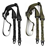 accmor 2 Point Rifle Sling, 2 Pack Multi-Use Upgrade Version Two Point Gun Sling with Length Adjuster for Hunting, Shooting
