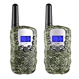 Outdoor Toys for Kids, Selieve 22 Channel 2 Way Radio 3 Miles Handheld Mini Walkie Talkies, Toys for 3-8 year old Boys and Girls (1 Pair, Camouflage)