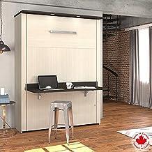 Bestar Lumina Murphy Wall Bed Queen with Desk
