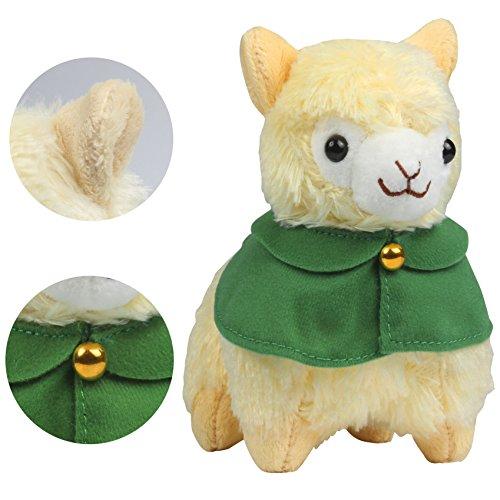 KSB 7.3'' Yellow Cloak Plush Alpaca,Cute Soft Plush,100% Plush Stuffed Animals Doll Toys,Best Birthday Gifts For The Children Kids