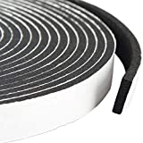 High Density Adhesive Foam Tape 3/4 Inch Wide X 5/16 Inch Thick, Weather Stripping Soundproofing Sealing Tape for Window and Door, Total 13 Feet Long (2 Rolls of 6.5 Ft Long Each)