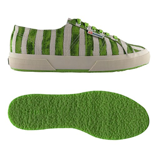 Collo Sneaker Superga green Basso Off 2750 Donna a White Linstripesw w66IxTqF