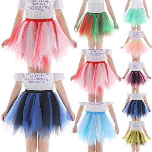 Sixcup Court annes Ballet Tutu Courte Style Femme varies en Couleurs Jaune Jupe 50 Couleur Tulle DE en Tulle Tutu Irrgulier Jupe Ballet pxAFwqnrp