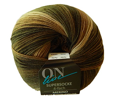 ol Blend Superwash Tonal Sock Yarn by On-Line (Brown) ()
