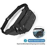 ProCase Fanny Pack Waist Packs for Men Women, Waist Bag Hip Pack for Travel Hiking Running Outdoor Sports -Black
