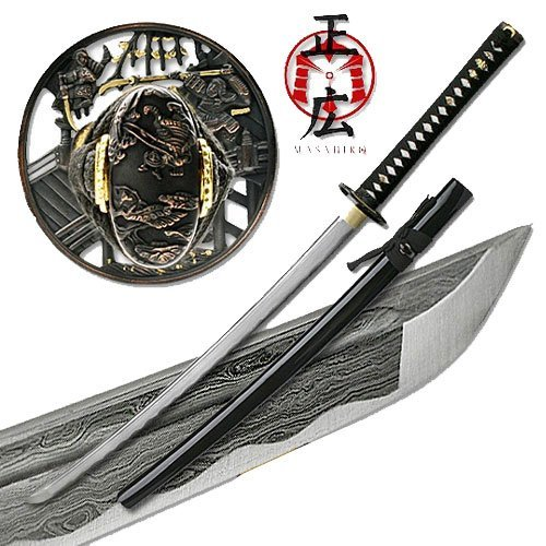 - Masahiro - Folded Steel Samurai Sword - 1000+ Layers - Ronin