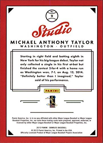 2015 Donruss Studio - 2015 Donruss Studio #9 Michael Taylor