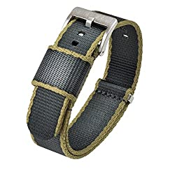 Image of the product 22mm Slate Grey/Tan Edges that is listed on the catalogue brand of Barton Watch Bands.