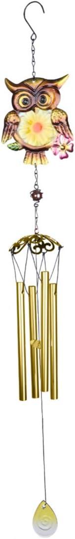 Yardwe Eule Windspiele Indoor Outdoor Metall Garten Glockenspiel Wasserdicht Wind Glocke f/ür Hausgarten Terrasse Veranda Dekoration Blau