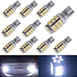 AUTOUS90 10 x RV Trailer T10 921 194 168 2825 42-SMD 12V Backup Reverse LED Pur White Lights Bulbs