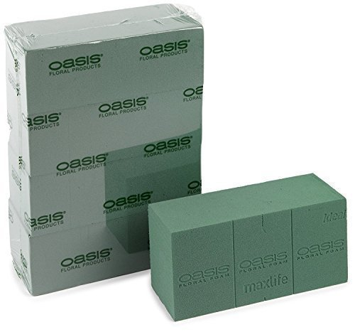 5 x Oasis Ideal Floral Foam Maxlife Bricks (Pack Contains 5 Bricks) Smithers Oasis