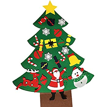 2017 new christmas tree set with ornaments wall hanging for christmas decoration double - Wall Hanging Christmas Tree