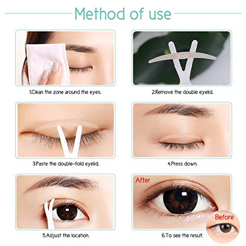 Lameila 240 Pair NaturaL Invisible Fiber Double Eyelid Tape