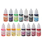 Misright 15 Colors Liquid Pigment Dye,Liquid Soap Dye Food Grade Skin Safe- Best Resin Soap Making Supplies