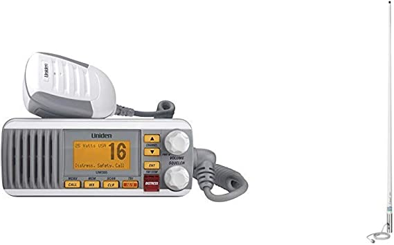 UNIDEN Fixed Mount VHF//2-Way Marine Radio Black UM380BK