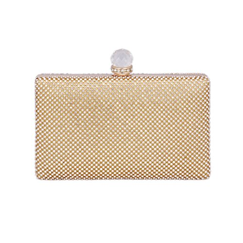 De Saturn®Femmes luxe Sac Main Soirée strass Or of pour à Day mariage Or Pochette S1XqA