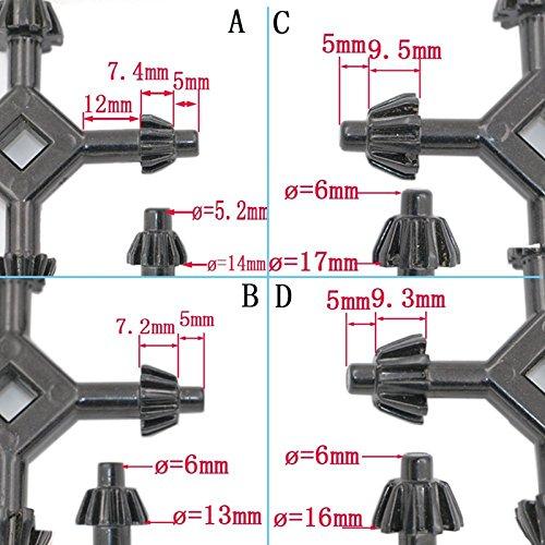 1//2 Multi Universal 4 Way 5.2-6mm Drill Chuck Key Power Drill Bits Wrench Drills 3//8 1//4 5//8
