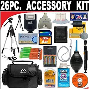 26 PC ULTIMATE SUPER SAVINGS DELUXE DB ROTH ACCESSORY KIT For The Fujifilm FinePix S8100fd, S8000fd, S2000hd, S1000fd, A920, A900, A820. A800, A610 Digital Cameras + BONUS Gift = Waterproof Camera = Great For Kids