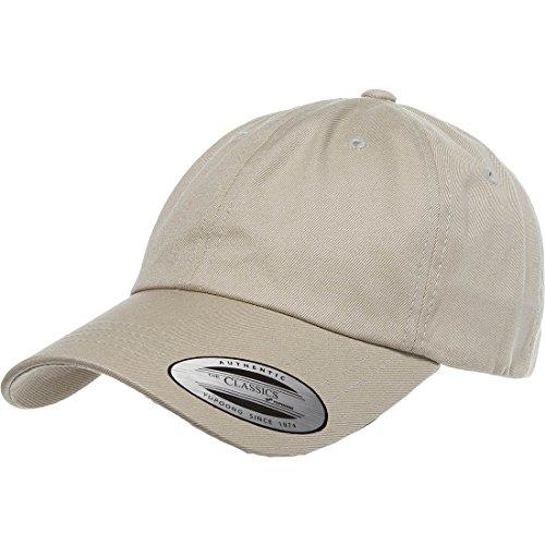 Flexfit/Yupoong 6245CM Low Profile Cotton Twill (Dad Cap) (Khaki) (Hats For Sale)