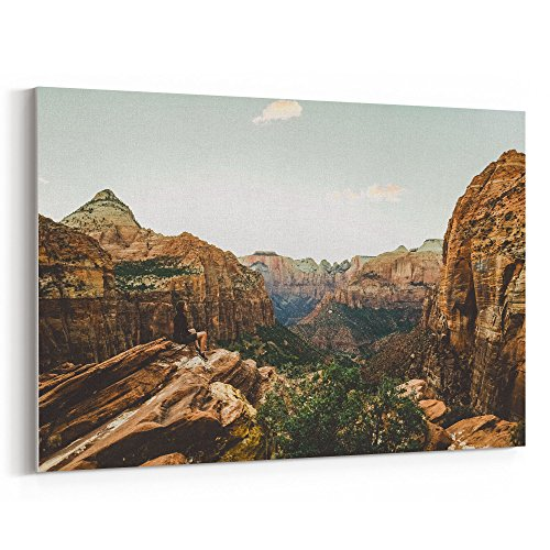 Westlake Art - Rock Hiker - 12x18 Canvas Print Wall Art - Canvas Stretched Gallery Wrap Modern Picture Photography Artwork - Ready to Hang 12x18 Inch ()
