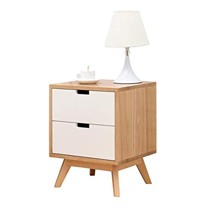 Amazon.com: SUN HUIJIE Solid Wood Bedside Table Bedside Cabinet ...