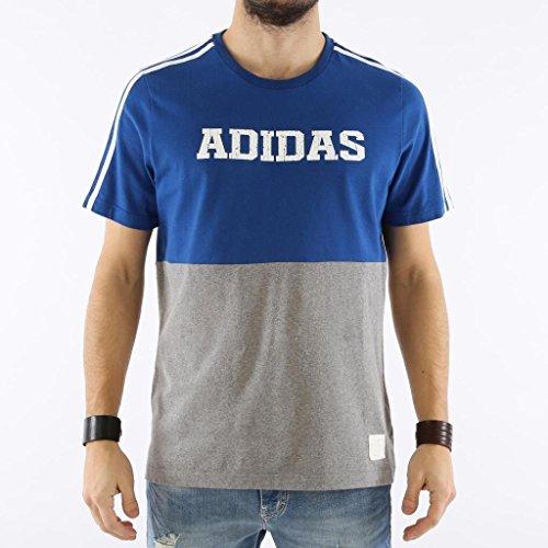 Adiads Tshirt ESSENTIALS Sport Blue/Grey AN8799-6