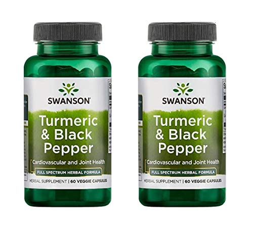 Swanson Organic Turmeric and Black Pepper, 60 Capsules, Pack of 2