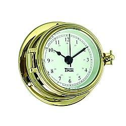 Weems and Plath Endurance II 105 Quartz Clock, Brass