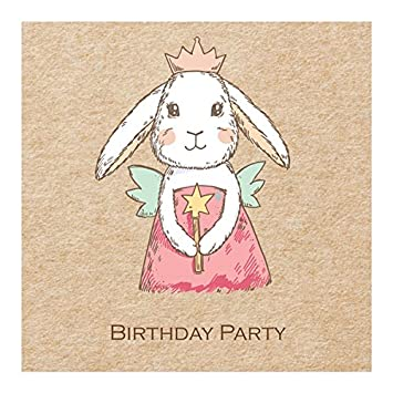 Kids Birthday Party Invitations Bunny Fairy Pack Of 10 Amazon